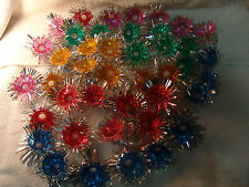 VTG MULTI COLOR ALUMINUM FOIL LIGHT REFLECTORS STARBURST SPUTNIK LOT 42