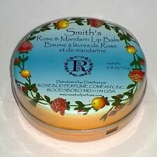 SMITH'S Rosebud Rose and Mandarin Lip Balm TIN Moisturizing Skin Therapy 0.8 oz