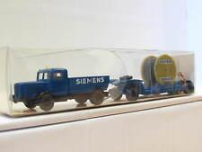 Wiking 27 852 Büssing 8000 mit Tiefladeanhänger Siemens OVP (Z3828)