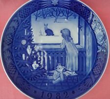 ROYAL COPENHAGEN 1982 CHRISTMAS PLATE WAITING FOR CHRISTMAS JULESTEMNING