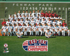 2007 BOSTON RED SOX Team Roster World Series Champions Glossy 8x10 Photo Poster