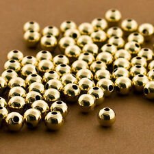 100 PCS Gold filled Beads, 6mm Round Beads, Seamless Gold fill Beads, 14k 14/20