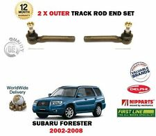 FOR SUBARU FORSTER 2002-2008 2x OUTER STEERING TRACK RACK TIE ROD END