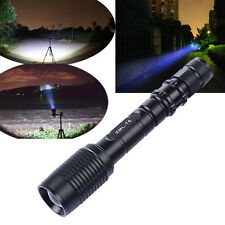 CREE XML T6 LED Zoom Flashlight Waterproof Torch 3000Lm 5 Mode Top