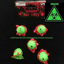 Toxic Biohazard-GREEN SEVERED EYEBALLS-Body Part-Mad Scientist Lab ZOMBIE Prop-5