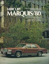 Mercury Marquis 1980 USA Market Sales  Brochure Grand Brougham Wagon