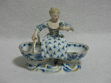 Meissen Blue Onion Figural Double Open Salt Cellar