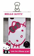 SAKAR White HELLO KITTY Phone CASE Durable+Sturdy Hardshell For iPHONE 4/4S