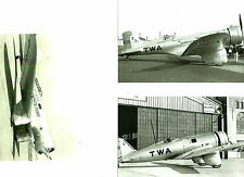 SET OF 3 - LOT #41 B&W 4X6 PHOTOS:TEXACO NORTHROP - TWA RACING AIRPLANES