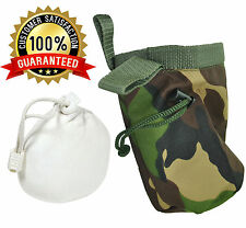 Senshi Japan Weight Lifting Rock  Climbing Camo Chalk Bag With FREE Chalk Ball