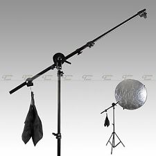 "Studio Photo Holder Bracket Swivel Head Reflector Arm Support 24""-66"" Sandbag"