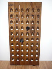 "60 Bottle Riddling Rack with Producer Branding handmade staining: ""Oak Middle"""