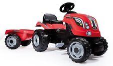 Trattore Farmer Pedalabile XL Rosso con Rimorchio Smoby 710108 bambini Nuovo