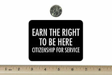 3 x 4 Biker Refrigerator Magnet Earn The Right To Be Here BM170