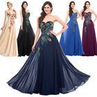 PEACOCK Maxi Bridesmaid Formal Long Gown Party Ball Prom Banquet Evening Dresses