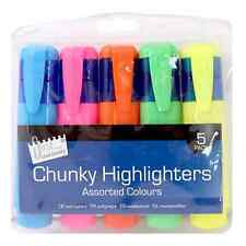 Chunky Highlighters Fluorescent Marker Pens Colours Back To School Stationery