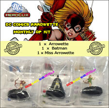 HEROCLIX DC 2015 ARROWETTE MONTHLY OP KIT - Arrowette + Batman + Miss Arrowette