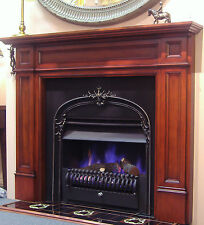 "FIREPLACE SURROUND-PARLIAMENT-TIMBER MANTLEPIECE-fire mantel piece""antique"""