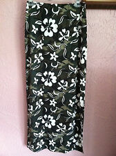 ENT Entrancy women's long skirt Size M camo green floral lined elastic waist USA