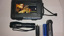Ultrafire Flashlight Military Grade Tactical Battery Charger & Box XT808 Style