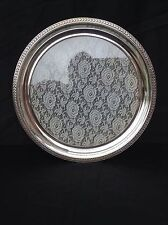 Antique Silver Plate Serving Tray - With Glass And Lace Base - W M F - Germany