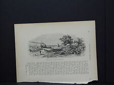 One In-Text Engraving, c 1872 S4#170 Detroit River, Fort Wayne, Michigan