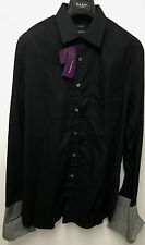"Paul Smith Black Shirt CLASSIC FIT Double Cuff 16"" Eu 41 LONDON COLLECTION"