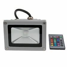 Outdoor LED Flood Light 10W RGB IP65 Wash Light Waterproof Colorful Bulb Lamp LW