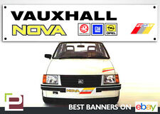 Vauxhall Nova Sport Banner for Workshop, Garage, Office, PVC with eyelets