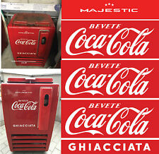 ADESIVI LOGO COCA COLA per FRIGO  Piccolo-SET RESTORING  OLD FRIDGE STICKERS