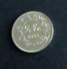 Münze 1/2 Schweizer Franken 1983 aus Umlauf gültiges Zahlungsmittel Sammler