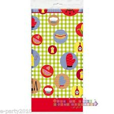 BARBECUE COOKOUT PLASTIC TABLE COVER ~ Summer Birthday Party Supplies Decoration