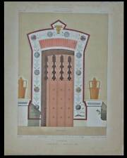 MARLY LE ROI, LAITERIE, PORTE - PLANCHE ARCHITECTURE 1859 - JOSEPH NICOLLE