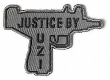 JUSTICE BY UZI Funny Second 2nd Amendment Machine GUN NRA Biker PATCH PAT-3682