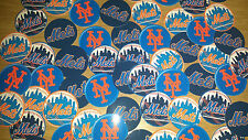 "SET of 56- 1"" PRECUT ""NEW YORK METS"" Bottle Cap Images.Birthdays,hairbows"