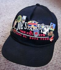 JOE STAMPLEY & FAT CATS vtg cap country 1970s beat-up hat snapback w/ buttons