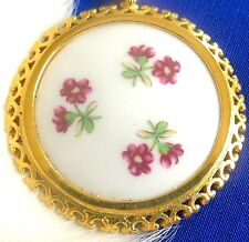 Antique Gorgeous Porcelain cameo  Brooch marked Western Germany MBI   tk
