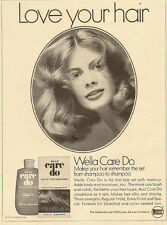 1972 Vintage ad for Wella Care Do~hair set (080313)