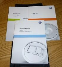 2014 VW TIGUAN OWNERS MANUAL SET GUIDE 14 w/case VOLKSWAGEN