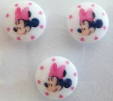 Disney Minnie Mouse white Buttons 3 pack 15mm Original Disney Product  Knitting