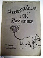 "Sept. 1931 ""The American Album of Fur Novelties"" w/ Stunning Fashion Plates"