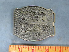 John Deere WATERLOO BOY Tractor Brass BELT BUCKLE Limited Edition 1914-1984