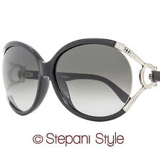Salvatore Ferragamo Oval Sunglasses SF600SR 001 Black/Palladium 600