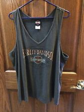 Harley Davidson Grey Tank Top Rubber City, Akron, Ohio1X Women's