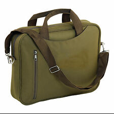 KHAKI ZIPPED DOCUMENT LAPTOP MESSENGER SHOULDER BAG BRIEFCASE SATCHEL CASE
