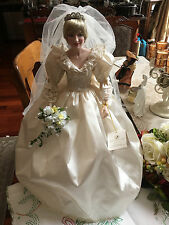 Franklin Mint Princess Diana PORCELAIN Wedding Bride Doll NEW