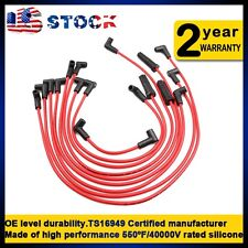 High Performance 7mm Red Spark Plug Ignition Wire Set for GMC Chevolet V8 5.0