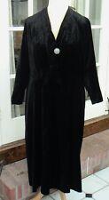 Anni'30 vintage black velvet dress, busto taglia 42, vintage eventi teatrali