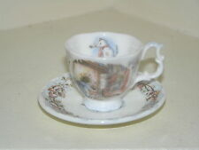 BRAMBLY HEDGE ROYAL DOULTON MINIATURE WINTER CUP & SAUCER 1ST QUALITY LOVELY