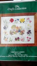 "THE CRAFT COLLECTION ""COTTAGE GARDEN"" CROSS STITCH KIT 14CT"